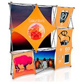 Pop Up Portable Booth 3D with Stretch Fabric Panels from Vispronet®
