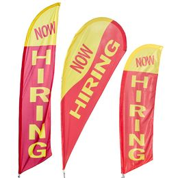 Now Hiring Banner Flags