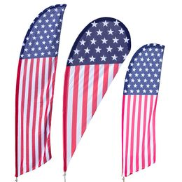 USA Stars and Stripes Feather Flag Kit