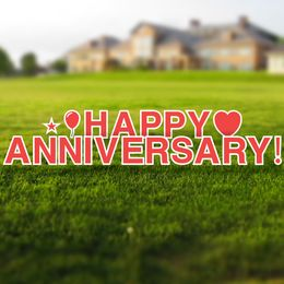 Happy Anniversary Yard Letters Set