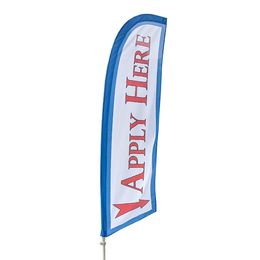 Apply Here Feather Flag