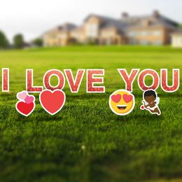 I Love You Yard Letters