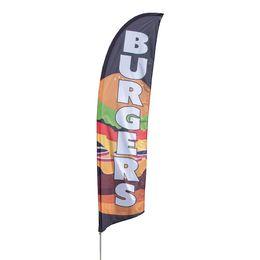 Burger feather flag