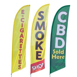 Smoke Shop Feather Flags