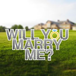 Will You Marry Me signs