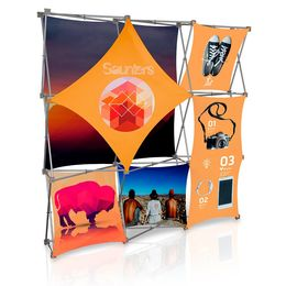 Stretch Panel Pop Up Booth 7.4ft x 7.4ft - 3322