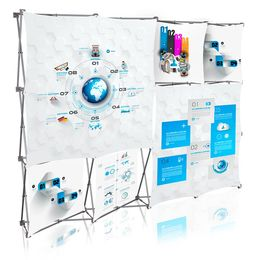 Stretch Panel Pop Up Booth 9.8ft x 7.4ft - 430