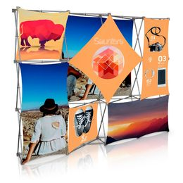 Stretch Panel Pop Up Booth 9.8ft x 7.4ft - 4316