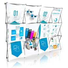 Stretch Panel Pop Up Booth 9.8ft x 7.4ft - 4322