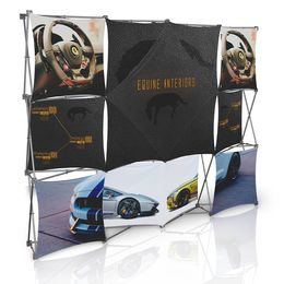 Stretch Panel Pop Up Booth 9.8ft x 7.4ft - 4324