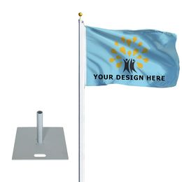 """Flagpole Standard with Base Plate 22"""" x 22"""""""