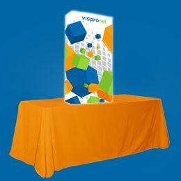 Backlit Pop Up Booth Straight 2.5ft x 5.0ft