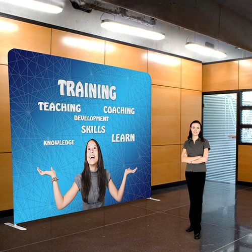 Use a backdrop wall for events and trade shows