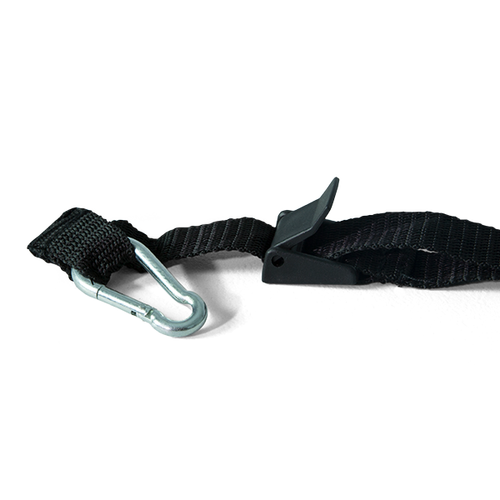 Tie-down is made of durable nylon webbing
