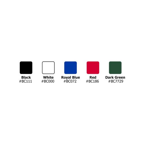 Choose from a number of stock colors