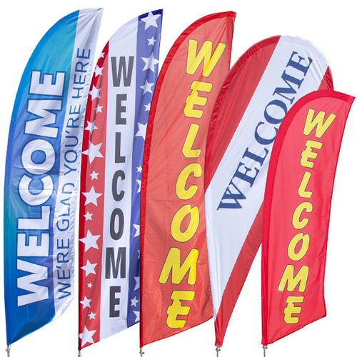 Welcome Feather Flag Kit