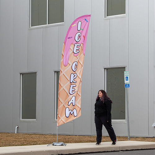 Flags work great as part of your outdoor advertising