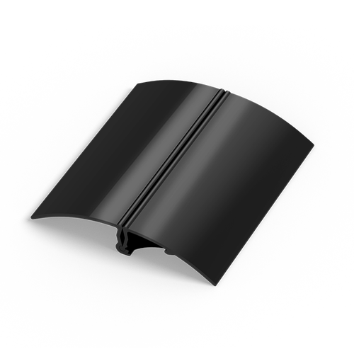 Aluminum snap base is available in black