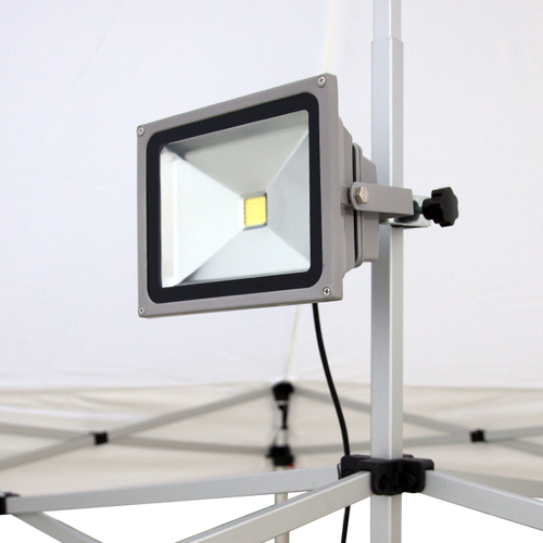 Attach up to 2 lights to each canopy peak post