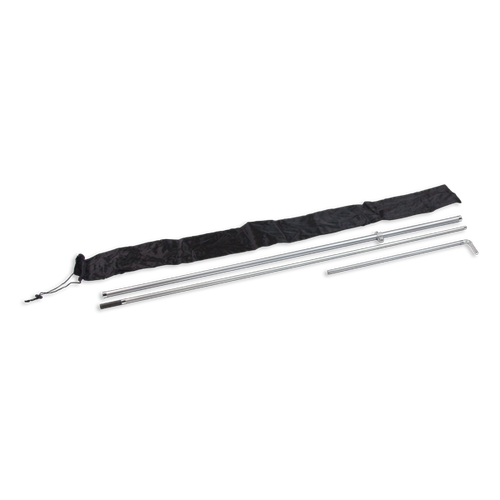 Rectangle flag pole sets come with durable aviation-grade fiberglass poles, clamp set and a carry bag for storage