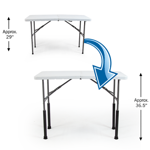 """Straight Table Risers Set - Counter Height elevates 29"""" table by 7.5"""" to approx 36.5"""""""