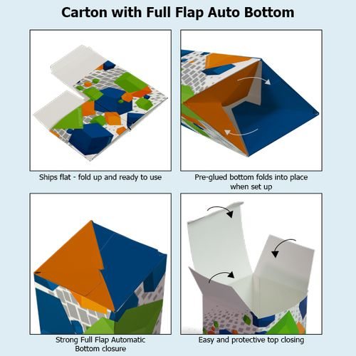 Carton with Full Flap Automatic Bottom in detail