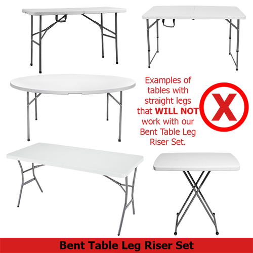 Table Leg Extenders do not function properly with straight leg tables