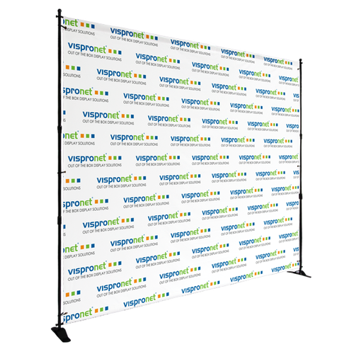 Frame is perfect for use with step and repeat banners