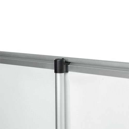 Clamping rail hooks into support pole bracket