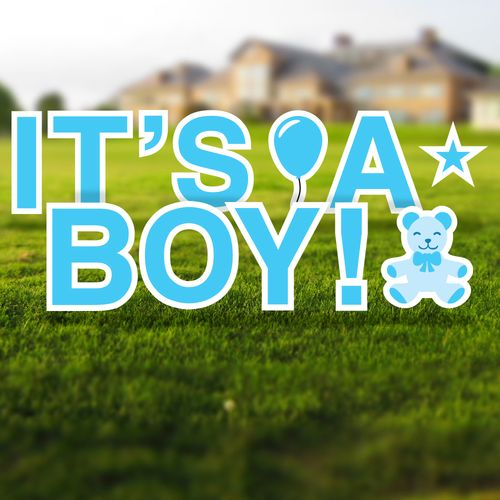 It's a Boy Yard Signs