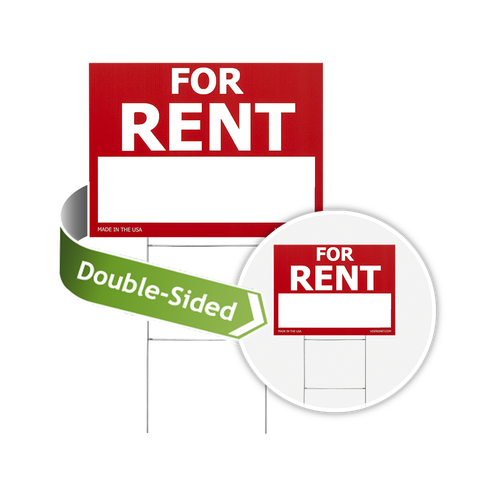 Sign is available in a double-sided format