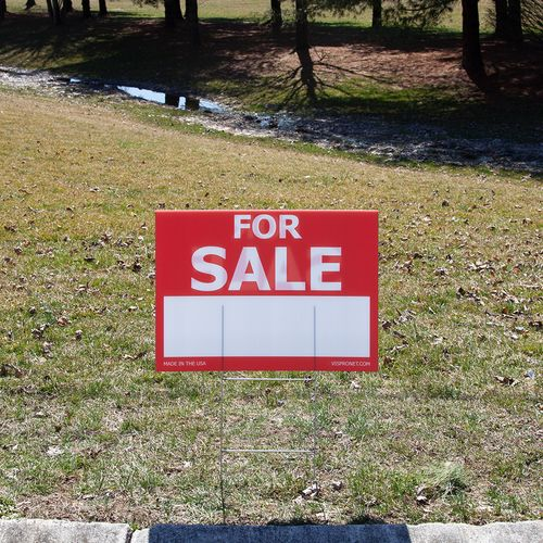 Display this yard sign in the ground to catch the attention of passersby