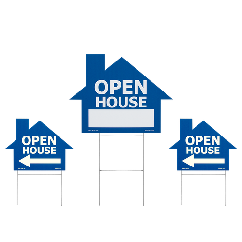 Option to order three house cutout signs together