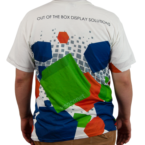 The back of the t-shirt can also be printed
