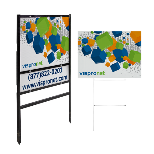Order 24in x 18in signs with real estate hardware (left) or an H stake (right)