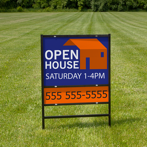 Custom real estate signs with rider
