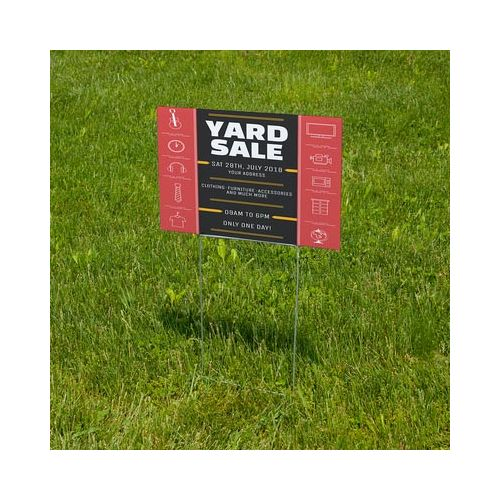 H stakes for yard signs
