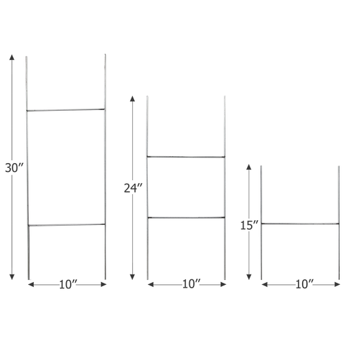 H wire stake sizes