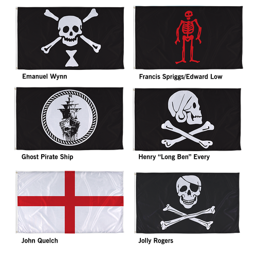 Choose which design you prefer from a selection of real pirate flags