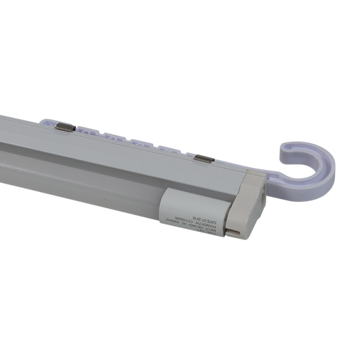 Lights are added by connecting them to the plastic holder