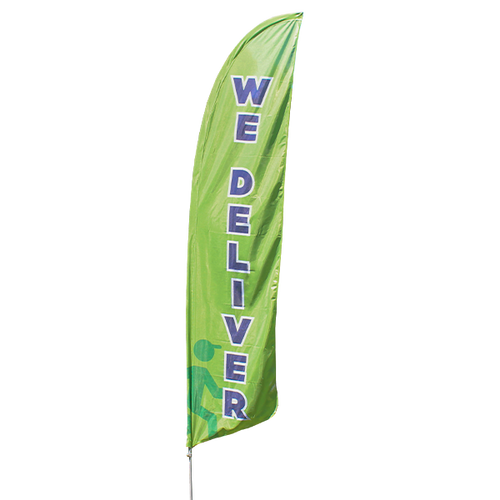 We Deliver Feather Flag Kit