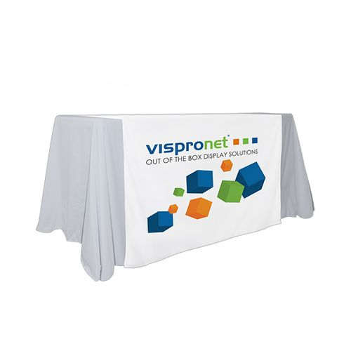 Custom table runners available as logo table runners or with full printing