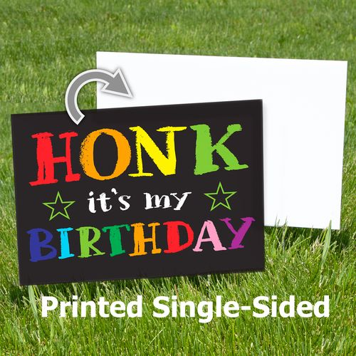 1-sided printing for black sign