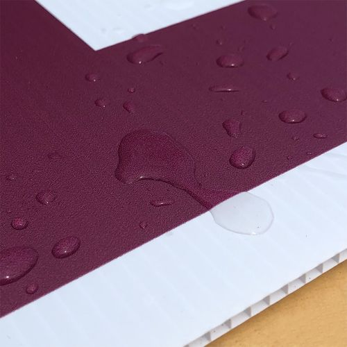 Water-resistant sign material