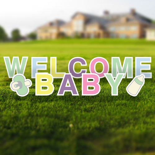 Welcome Baby Yard Letters