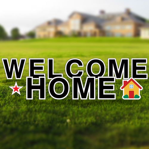 Welcome Home Realtor Yard Letters