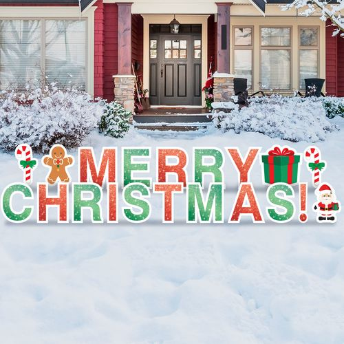 Merry Christmas yard letters