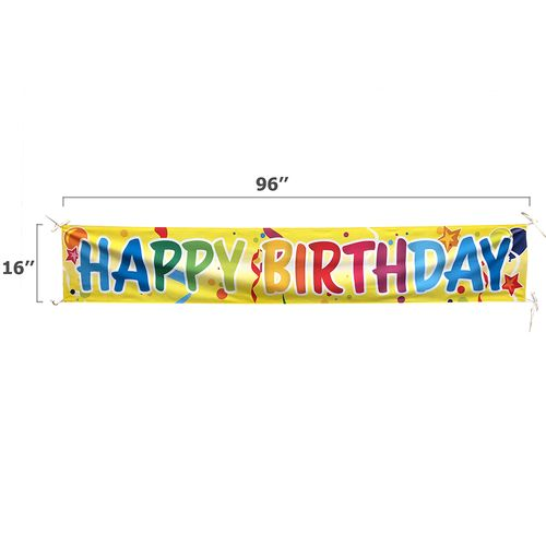 Size of our happy birthday banners