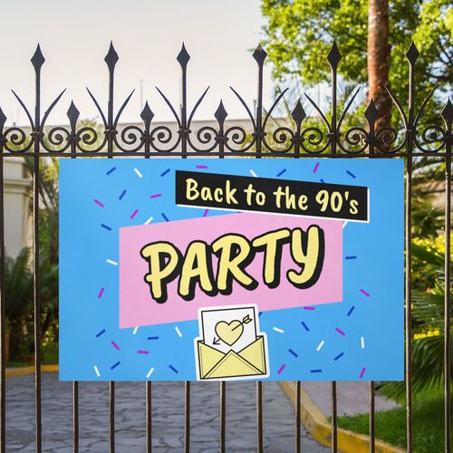 Corrugated Signs for party