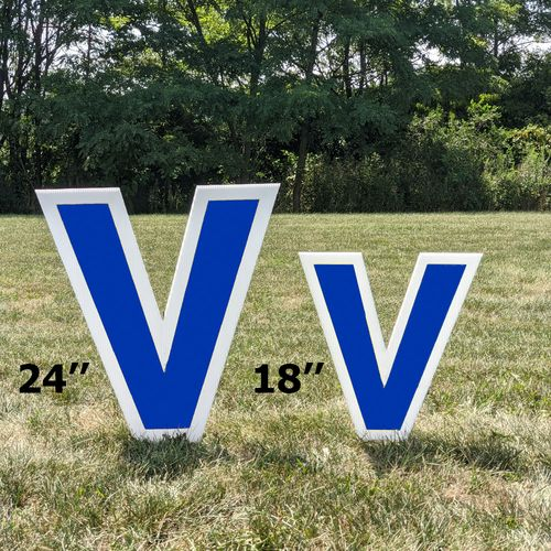 Soccer Yard Letters Sizes